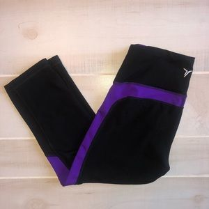 Old Navy Purple & Black Cropped Leggings